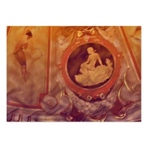 Aceo do ATC das mulheres do vintage Cartão De Visita