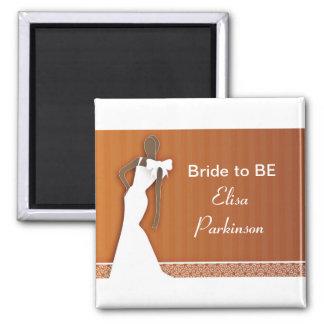 acessórios e presentes da noiva para wedding ímã quadrado