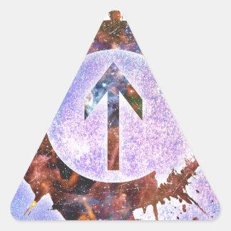 Acima da influência adesivos triângulo