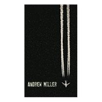 Acima no Contrail do céu/avião da alta altitude Cartão De Visita