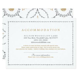 Acomodação clássica elegante do casamento vintage convite 11.30 x 15.87cm
