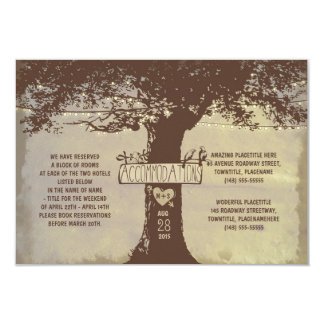 Acomodações da árvore convite 8.89 x 12.7cm