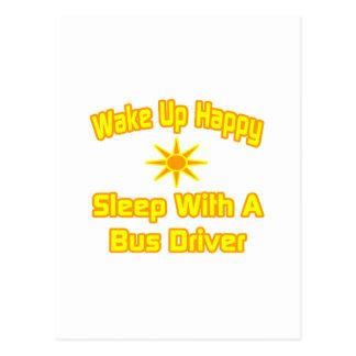 Acorde… o sono feliz com um condutor de autocarro cartao postal
