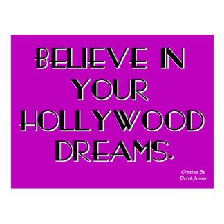 Acredite em seu cartão dos sonhos de Hollywood