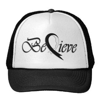 Acredite (Fita-Camionista preto e branco) Boné