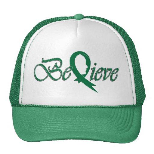 Acredite (Fita-Camionista verde) Bonés
