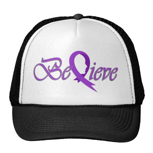 Acredite (Fita-Camionista violeta) Bonés