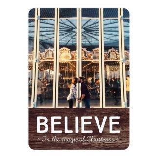 Acredite na mágica do Natal • cartão do feriado Convite 12.7 X 17.78cm