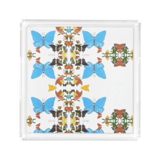 Acrílico espelhado cor da colagem da borboleta do
