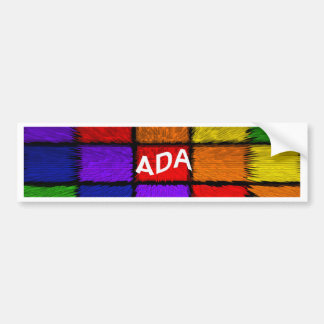 ADA (nomes fêmeas) Adesivo Para Carro