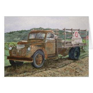 Adega oxidada Napa Valley de Sattui do caminhão Cartão