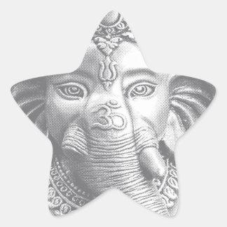Adesito Estrela 3d senhor Ganesha - OM