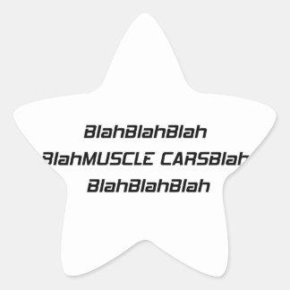 Adesito Estrela Carro blá do músculo blá