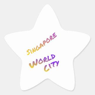 Adesito Estrela Cidade do mundo de Singapore, arte colorida do
