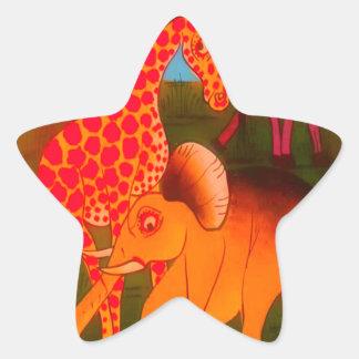 Adesito Estrela Cores africanas coloridas do safari do animal