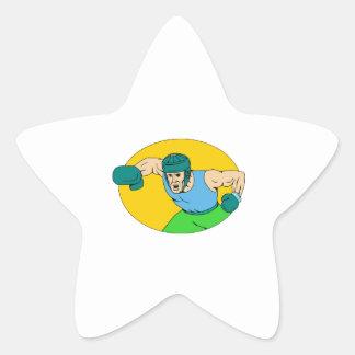 Adesito Estrela Desenho amador do perfurador de KO do pugilista