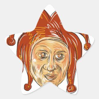 Adesito Estrela Desenho da cabeça do bobo da corte da corte