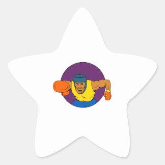Adesito Estrela Desenho de perfuração do círculo do pugilista