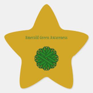 Adesito Estrela Fita da flor do verde esmeralda