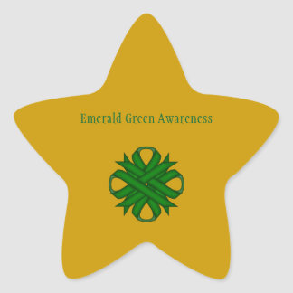 Adesito Estrela Fita do trevo do verde esmeralda