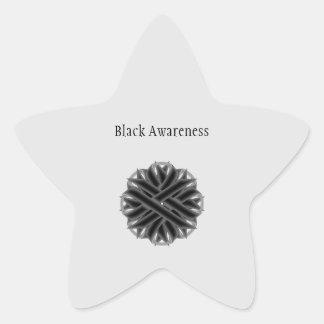Adesito Estrela Fita preta da flor