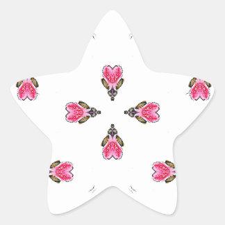 Adesito Estrela Flores em botão cor-de-rosa