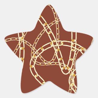 Adesito Estrela Fundo 2 da corrente dourada