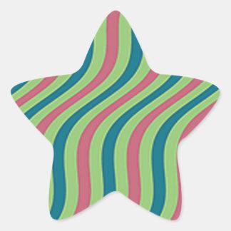 Adesito Estrela Listras onduladas da corrediça da melancia