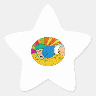 Adesito Estrela Pugilista amador batido pelo desenho oval do