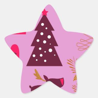 Adesito Estrela Rosa do marshmallow do design do Xmas