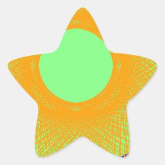 Adesito Estrela sol na arte abstracta multicolorido da radiação