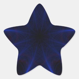 Adesito Estrela teste padrão azul do laser