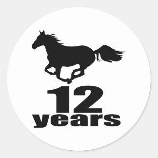 Adesivo 12 anos de design do aniversário