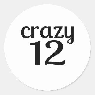 Adesivo 12 designs louco do aniversário