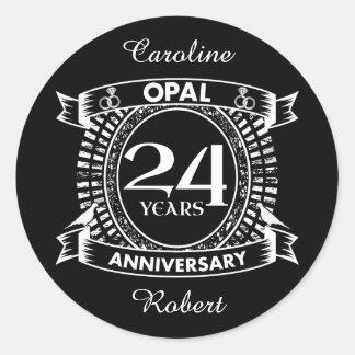 Adesivo 24o opal do aniversário de casamento