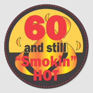 Adesivo 60 e ainda aniversário quente de Smokin | 60th