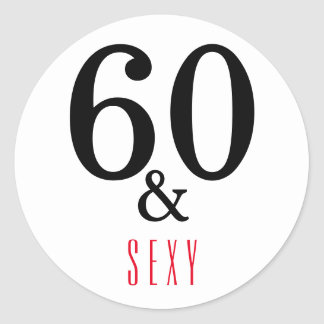 Adesivo 60th Topografia do aniversário
