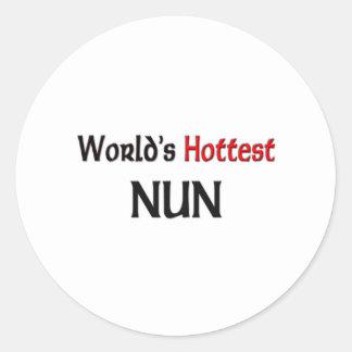 Adesivo A freira a mais quente dos mundos