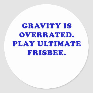 Adesivo A gravidade é Frisbee final avaliado em excesso do