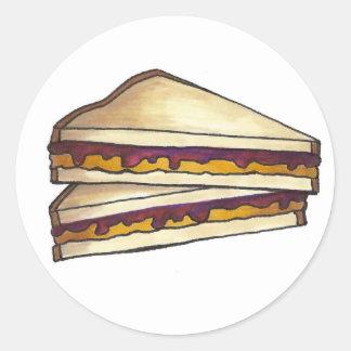 Adesivo Almoço do sanduíche PBJ da manteiga de amendoim e