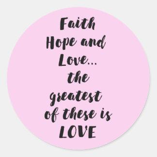 Adesivo Amor da esperança da fé