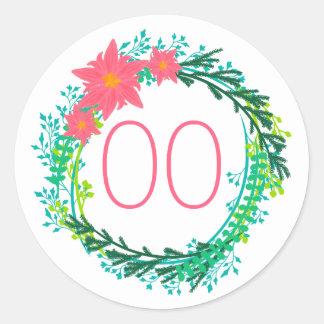 Adesivo Aniversário do 90 do 80 do 70 da grinalda 60th das