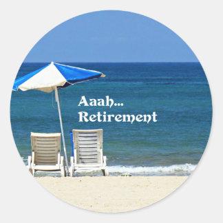 Adesivo Aposentadoria de Aaah…, relaxando na praia