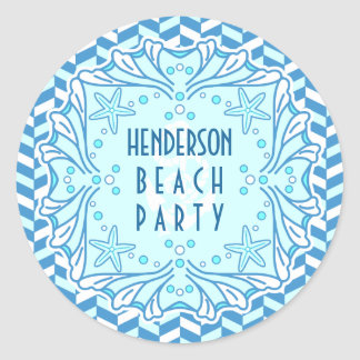 Adesivo Art deco Shell do partido da praia e costume de
