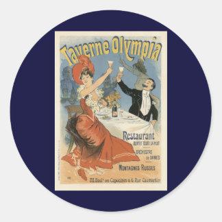 Adesivo Arte Nouveau do vintage, restaurante da Olympia de