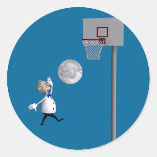 Adesivo Astrónomo que joga o basquetebol