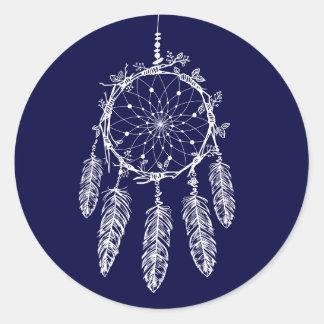 Adesivo Azuis marinhos do coletor do sonho de nativo