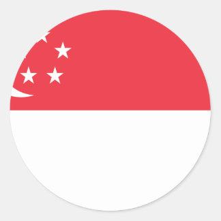 Adesivo Baixo custo! Bandeira de Singapore
