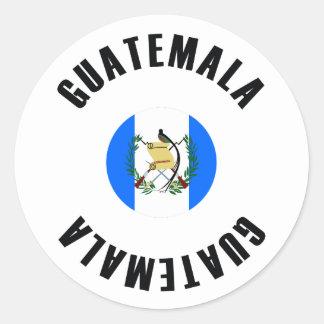 Adesivo Bandeira de Guatemala simples