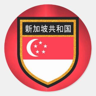 Adesivo Bandeira de Singapore